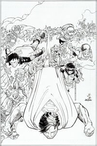 John Romita Jr. and Klaus Janson Action Comics #1021 Cover and Complete 23-Page Story Original Art Group of 20 (DC... (T...