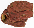 Baseball Collectibles:Others, 1987 David Cone Game Used & Signed Glove with Equipment Manager Provenance. ...