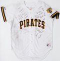 Autographs:Jerseys, 1990s Pittsburgh Pirates Multi-Signed Jersey. ...