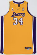 Autographs:Jerseys, Shaquille O'Neal Signed Los Angeles Lakers Jersey. ...