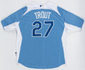 Autographs:Jerseys, Mike Trout Signed 2012 All-Star Game Jersey. ...