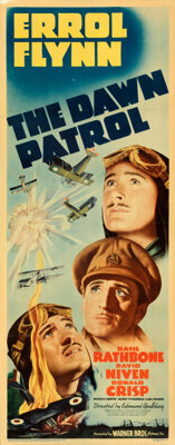 "The Dawn Patrol (Warner Bros., 1938). Very Fine on Paper. Linen Finish Insert (14"" X 36"")"