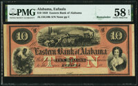 Eufaula, AL- Eastern Bank of Alabama $10 18__ Remainder G10b PMG Choice About Unc 58 EPQ