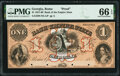 Obsoletes By State:Georgia, Rome, GA- Bank of the Empire State $1 18__ UNL Proof PMG Gem Uncirculated 66 EPQ.. ...