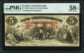 Obsoletes By State:Georgia, Greensborough, GA- Bank of Greensborough $5 May 2, 1857 G6a PMG Choice About Unc 58 EPQ.. ...