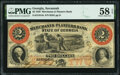 Obsoletes By State:Georgia, Savannah, GA- Merchants and Planters Bank $2 June 1,1859 G4c PMG Choice About Unc 58 EPQ.. ...
