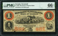 Obsoletes By State:Georgia, Savannah, GA- Merchants and Planters Bank $1 June 1,1859 G2c PMG Gem Uncirculated 66 EPQ.. ...