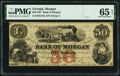 Obsoletes By State:Georgia, Morgan, GA- Bank of Morgan $50 Mar. 9, 1857 G18a PMG Gem Uncirculated 65 EPQ.. ...