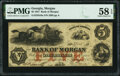 Obsoletes By State:Georgia, Morgan, GA- Bank of Morgan $5 May 1, 1857 as G8a PMG Choice About Unc 58 EPQ.. ...