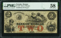 Obsoletes By State:Georgia, Morgan, GA- Bank of Morgan $2 May 9, 1857 G4a PMG Choice About Unc 58.. ...
