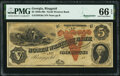 Obsoletes By State:Georgia, Ringgold, GA- North Western Bank of Georgia $5 18__ Remainder G6a PMG Gem Uncirculated 66 EPQ.. ...