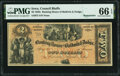 Obsoletes By State:Iowa, Council Bluffs, IA- Banking House of Baldwin & Dodge $2 185__ Remainder Oakes 27-2 PMG Gem Uncirculated 66 EPQ.. ...
