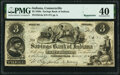 """Connersville, IN- Savings Bank of Indiana $3 """"Mar, 15, 1865"""" Remainder G4a Wolka 0425-02 PMG Extremely Fine 40..."""