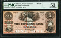 Mount Carmel, IL- Citizens Bank $1 18__ as G2a Proof PMG About Uncirculated 53