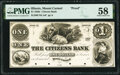 Mount Carmel, IL- Citizens Bank $1 18__ as G2a Proof PMG Choice About Unc 58