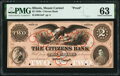 Obsoletes By State:Illinois, Mount Carmel, IL- Citizens Bank $2 18__ as G4a Proof PMG Choice Uncirculated 63.. ...