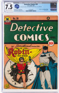 Golden Age (1938-1955):Superhero, Detective Comics #38 (DC, 1940) CGC Conserved VF- 7.5 Cream to off-white pages....