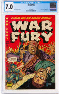Golden Age (1938-1955), War Fury #1 (Comic Media, 1952) CGC FN/VF 7.0 White pages....