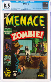 Menace #5 (Atlas, 1953) CGC VF+ 8.5 Cream to off-white pages