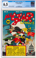 Golden Age (1938-1955):Superhero, All Star Comics #4 (DC, 1941) CGC FN+ 6.5 White pages....
