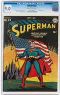 Golden Age (1938-1955):Superhero, Superman #24 (DC, 1943) CGC VF/NM 9.0 Off-white to white pages....
