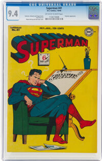 Superman #41 (DC, 1946) CGC NM 9.4 Off-white to white pages