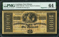 Obsoletes By State:Louisiana, New Orleans, LA- Citizens' Bank of Louisiana $1000 18__ Remainder G54b PMG Choice Uncirculated 64.. ...