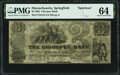 Obsoletes By State:Massachusetts, Springfield, MA- Chicopee Bank Spurious $3 May 1, 1862 S10 PMG Choice Uncirculated 64.. ...