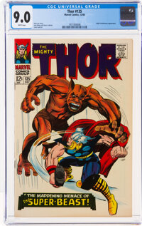 Thor #135 (Marvel, 1966) CGC VF/NM 9.0 White pages