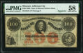 Obsoletes By State:Missouri, Unknown Location, MO- State of Missouri (Secessionist) $100 186_ Remainder Cr. 19 PMG Choice About Unc 58.. ...