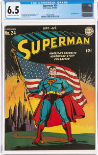 Superman #24 (DC, 1943) CGC FN+ 6.5 Off-white to white pages