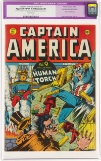 Captain America Comics #21 (Timely, 1942) CBCS Apparent FN/VF 7.0 Moderate (P) White pages