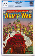 Golden Age (1938-1955):War, Our Army at War #2 (DC, 1952) CGC VF- 7.5 Cream to off-white pages....