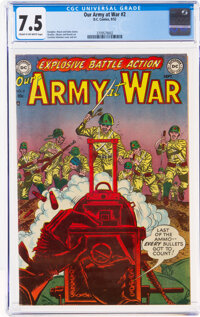 Our Army at War #2 (DC, 1952) CGC VF- 7.5 Cream to off-white pages