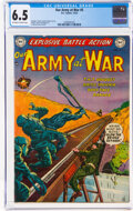 Golden Age (1938-1955):War, Our Army at War #5 (DC, 1952) CGC FN+ 6.5 Off-white to white pages....