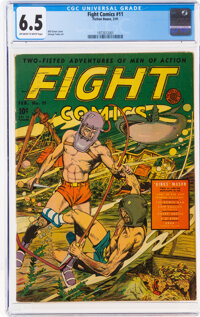 Fight Comics #11 (Fiction House, 1941) CGC FN+ 6.5 Off-white to white pages