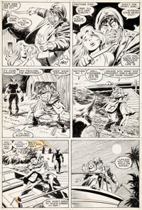 John Buscema and Al Williamson Wolverine #1 Story Page 14 Original Art (Marvel Comics, 1988)