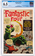 Silver Age (1956-1969):Superhero, Fantastic Four #1 (Marvel, 1961) CGC FN+ 6.5 Cream to off-white pages....