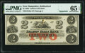 Obsoletes By State:New Hampshire, Rollinsford, NH- Salmon Falls Bank $2 18__ Remainder G8a PMG Gem Uncirculated 65 EPQ.. ...