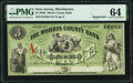 Obsoletes By State:New Jersey, Morristown, NJ- Morris County Bank $3 July 1, 1862 Remainder G26d PMG Choice Uncirculated 64.. ...