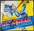 Baseball Cards:Unopened Packs/Display Boxes, 1984 Topps Baseball Cello Box With 24 Unopened Packs - Don Mattingly Rookie Year....