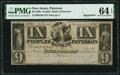 Paterson, NJ- Peoples' Bank of Paterson $9 18__ Remainder G46 PMG Choice Uncirculated 64 EPQ