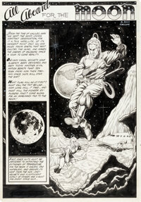 """Murphy Anderson Rangers Comics#64 Complete 3-Page Story """"All Aboard for the Moon"""" Original Art (Fiction House..."""