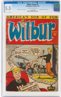 Wilbur Comics #5 (MLJ, 1945) CGC FN- 5.5 Off-white to white pages