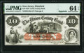 Obsoletes By State:New Jersey, Plainfield, NJ- Union County Bank $10 Sep. 12, 1859 Remainder G10a PMG Choice Uncirculated 64 EPQ.. ...