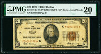 Fr. 1870-K* $20 1929 Federal Reserve Bank Note. PMG Very Fine 20