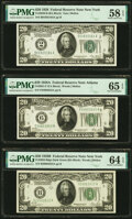 Fr. 2050-B $20 1928 Federal Reserve Note. PMG Choice About Unc 58 EPQ; Fr. 2051-F $20 1928A Federal Reserve Note. PMG Ge...