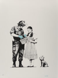 Banksy (b. 1974) Stop and Search, 2007 Screenprint in colors on wove paper 30-1/8 x 22-5/8 inches