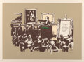 Prints & Multiples, Banksy (b. 1974). Morons (Sepia), 2007. Screenprint in colors on Somerset paper. 22 x 30 inches (55....