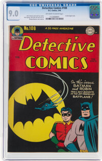 Detective Comics #108 (DC, 1946) CGC VF/NM 9.0 Off-white to white pages